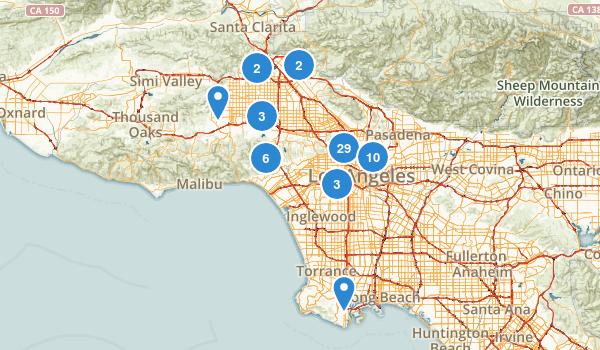 Los Angeles, California Map