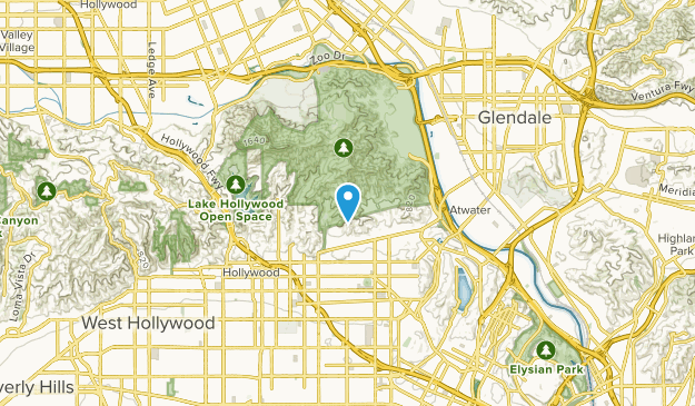 Los Feliz, California Map