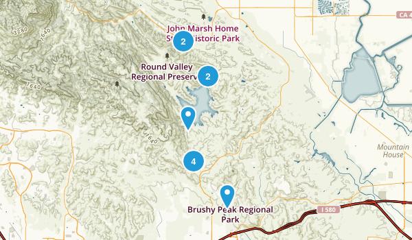 Los Vaqueros Reservoir & Watershed, California Map