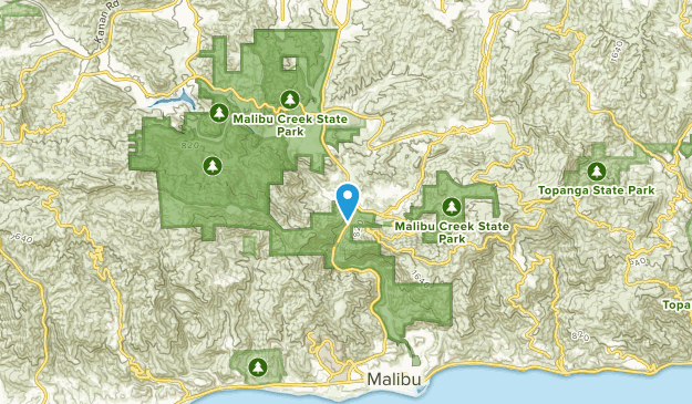 Malibu Bowl, California Map