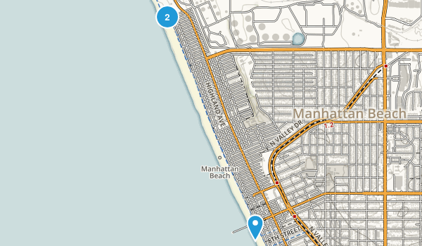 manhattan beach california map