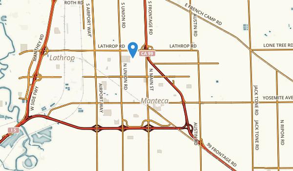 Manteca, California Map