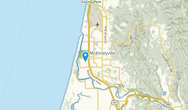McKinleyville, California Map