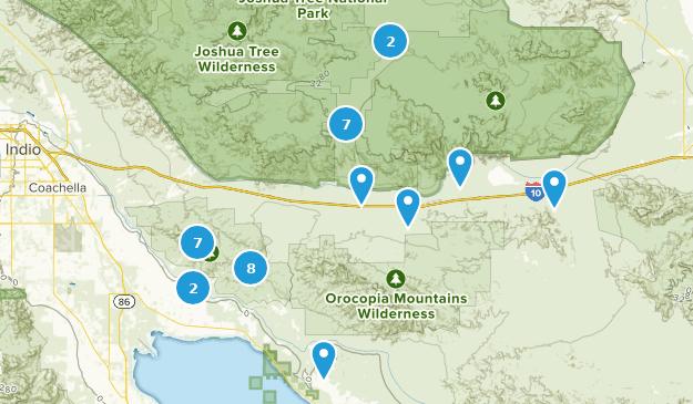 Map Of Trails Near Mecca California Alltrails
