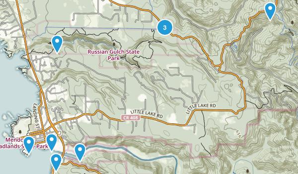 Mendocino, California Map