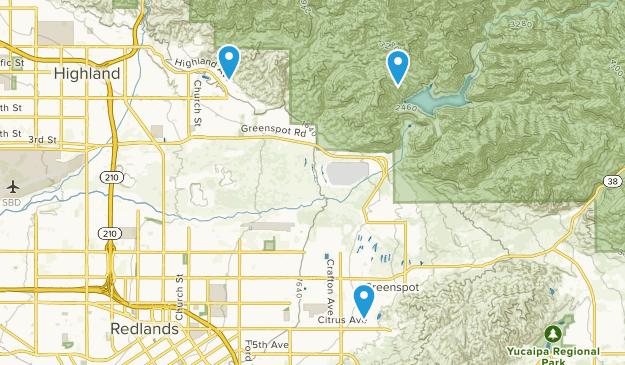 Mentone, California Map