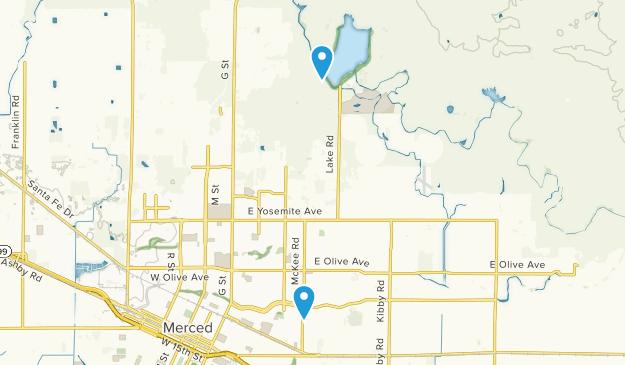 Merced, California Map