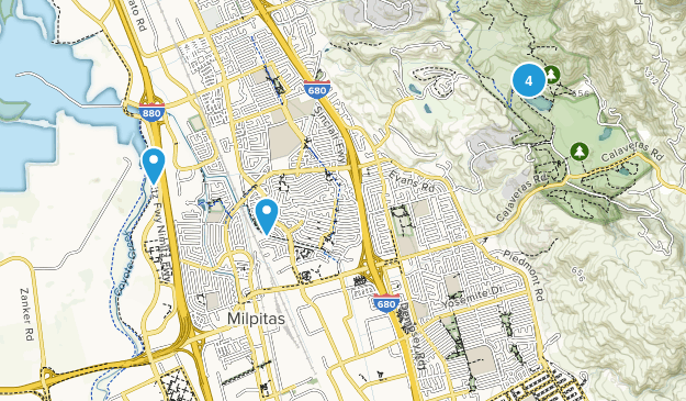 Map of Trails near Milpitas, California | AllTrails