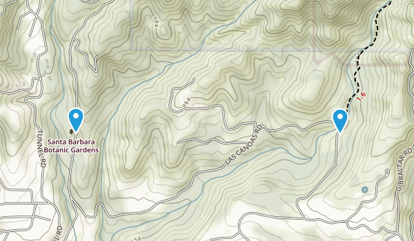 Mission Canyon, California Map