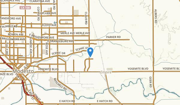 Modesto, California Map