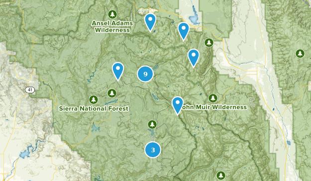 Mono Hot Springs, Kalifornien Map