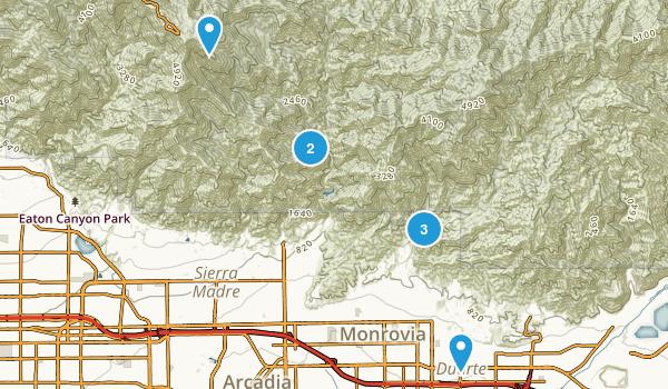 Monrovia, California Map