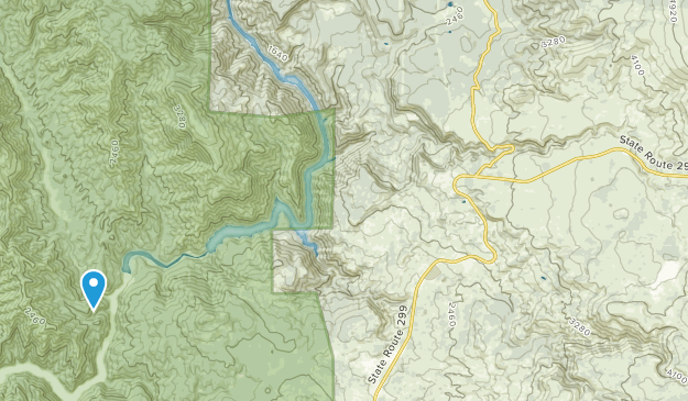 Montgomery Creek, California Map