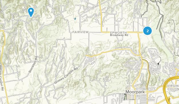 Moorpark, Kalifornien Map