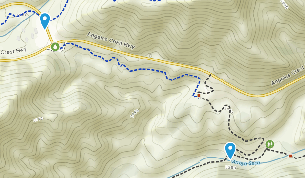 Mount Wilson, California Map