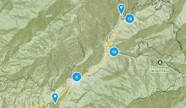 Mt Baldy, California Map