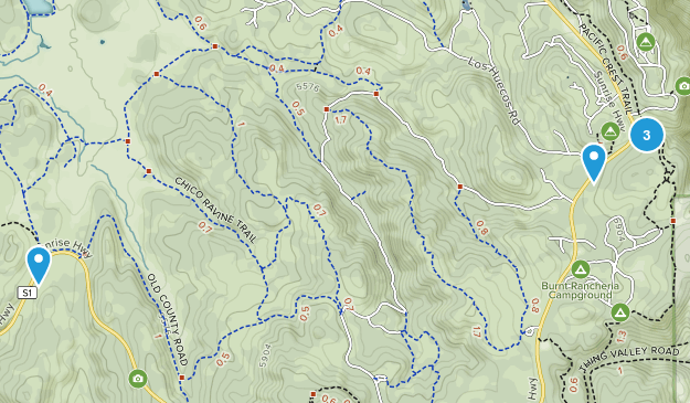 Mt Laguna, California Map