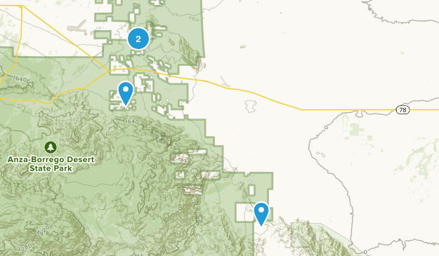 Ocotillo Wells, California Map