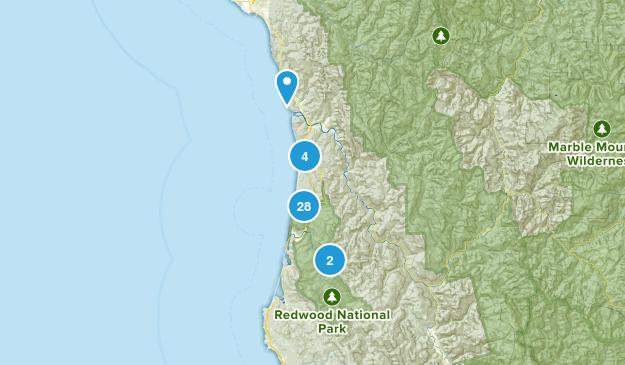 Orick, California Map