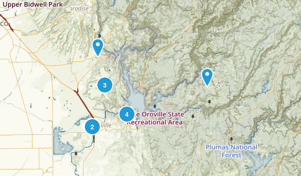 Oroville, California Map
