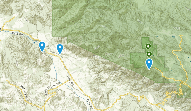 Pala, California Map