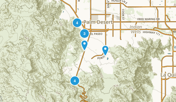 Palm Desert, California Map