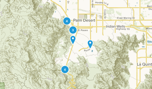 Palm Desert, California Map