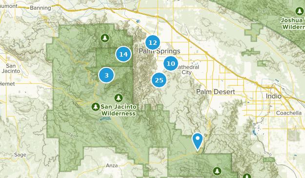 Palm Springs, Kalifornien Map