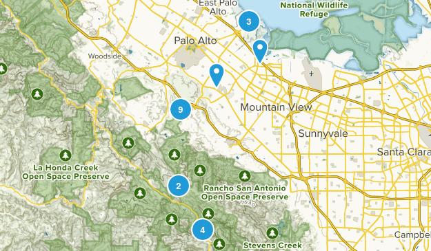Palo Alto, California Map