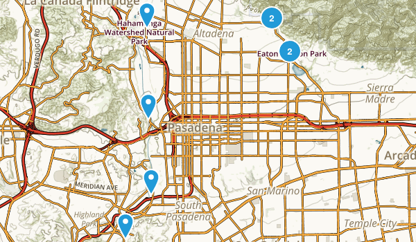 Pasadena, California Map