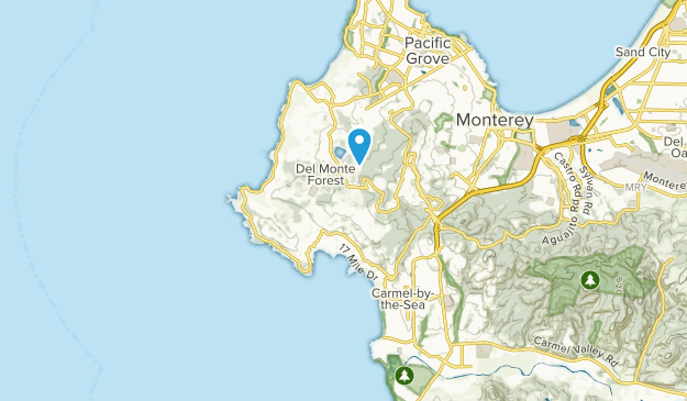 Pebble Beach Map Best Trails near Pebble Beach, California | AllTrails