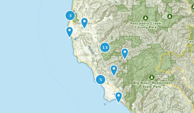 Pescadero, Kalifornien Map