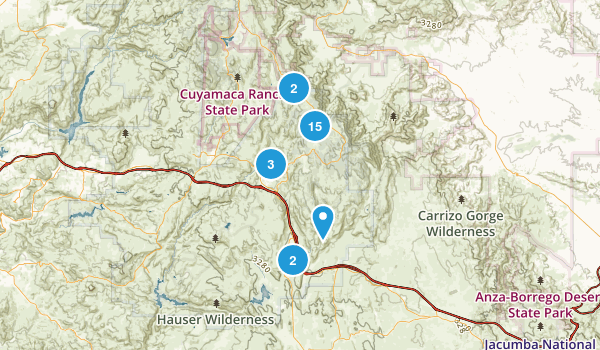 Pine Valley, California Map