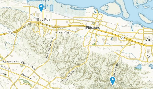Pittsburg, California Map