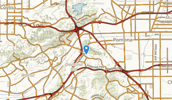 Pomona, California Map