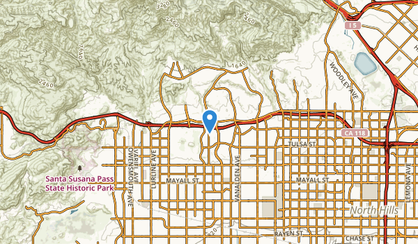 trail locations for Porter Ranch, California