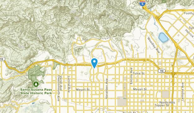 Porter Ranch, Kalifornien Map