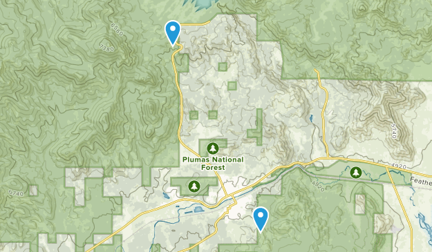 Portola, California Map