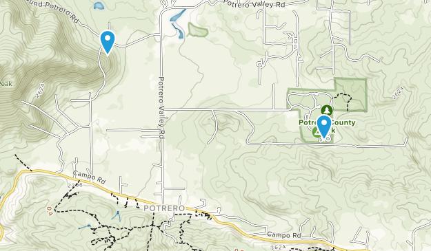 Potrero, Kalifornien Map