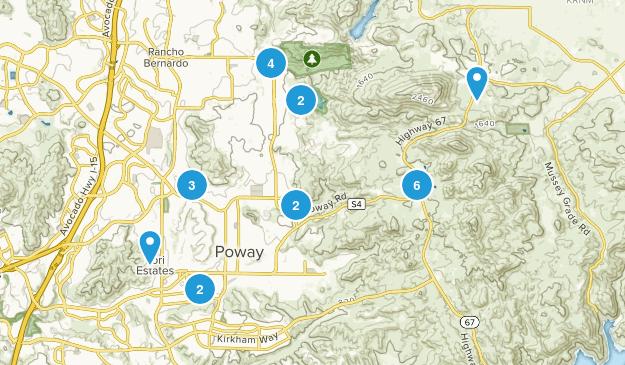 Poway, California Map