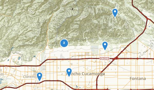 Rancho Cucamonga, California Map