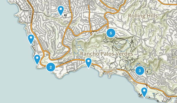Rancho Palos Verdes, California Map