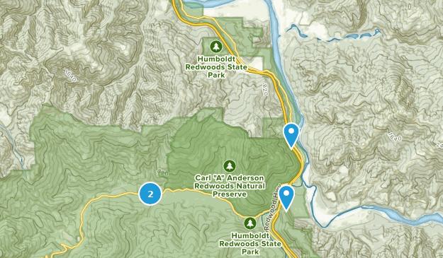 Redcrest, California Map