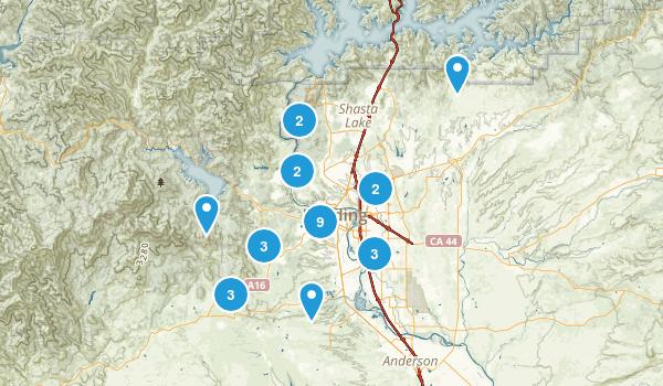 Redding, California Map