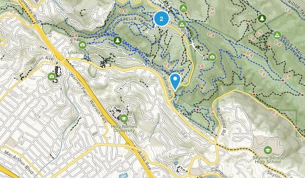 Redwood Heights, California Map