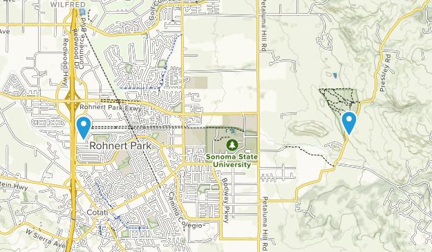 Rohnert Park, California Map
