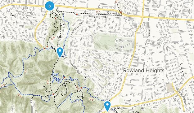Rowland Heights, Kalifornien Map