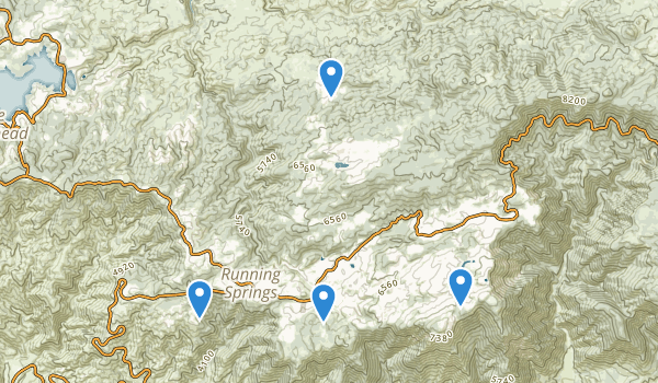 trail locations for Running Springs, California