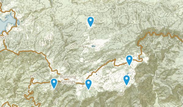 Running Springs, California Map