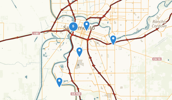 Sacramento, California Map